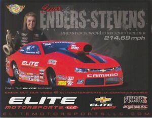 2014 Erica Enders Elite Motorsports Chevy Camaro Pro Stock NHRA postcard