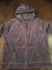 Women's Velour Jog Sweat Suit, Set, Pants & Jacket, Dusty Purple, Size XL, CUTE!