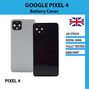 Replacement Battery Cover Camera Lens Adhesive Black White Google Pixel 4 UK