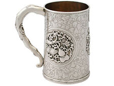 Chinese Export Silver Mug - Antique Circa 1850