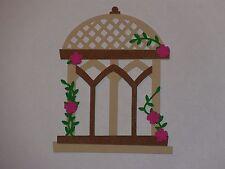 """1 gazebo with pink flowers 3 1/4"""" x 4"""" die cuts"""