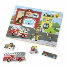 Melissa & Doug Sound Puzzle ~ Around the Fire Station  2+