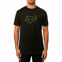 Fox Racing Men's Legacy Fox Head Short Sleeve T Shirt Black Camo Clothing Tee