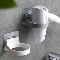 KQ_ Bathroom Wall Mount Electric Hair Dryer Holder Storage Rack Organizer DEN