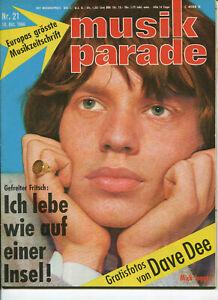 Beat Magazin: musik parade 1966, Nr.21, 10.10.66 Deutsche Musikzeitschrift 60er