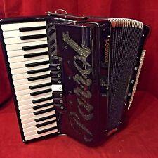 NEW Parrot Piano Accordion Macaw Black LMM 37 Key 96 Bass 7 Switch