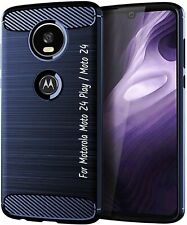 Motorola Moto Z4 Play / Moto Z4 Case 4rd Generation Slim TPU Cover Bumper Blue