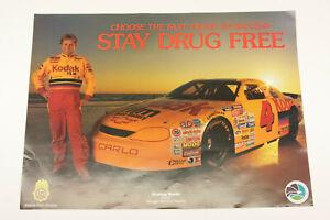 "Nascar #4 Kodak Race Car Sterling Marlin Atlanta Drug DEA Ad 17x23"" Poster F44E"