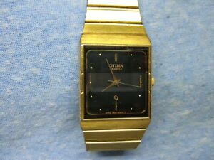 Men's CITIZEN Gold Watch w/ New Battery