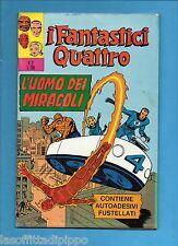 SUPER EROI - I FANTASTICI QUATTRO-CORNO -N.2- 20 APRILE 1971 - DI RESA+ADESIVI