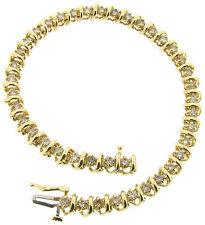 "Yellow Gold 14 Carat Fine Diamond Bangles 7 - 7.49"" Length"