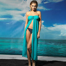 NEW Aqua Strapless U Buckle Kaftan Sheer Cape Summer Beachwear Dress XS S M 10