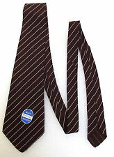 Mans striped vintage tie Tootal tie UNUSED 1950s BLUE LABEL QUALITY brown white