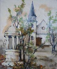 Jeanin KOSTIA BLANCHETEAU (1932-2013) HsT Église de Bois-Jérôme-Saint-Ouen