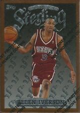 1996-97 TOPPS FINEST STERLING - ALLEN IVERSON - ROOKIE WITH COATING