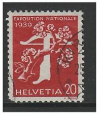 Switzerland - 1939, 20c National Exhibition (French) (Grill Gum) - F/U -SG 396Fa