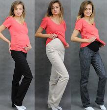 UmstandsHose Schwangerschaft Denim Jeans Röhrenhosen Umstandsjeans mit Bauchband