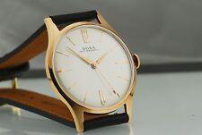 Restored 1950's Doxa 14k Solid Pink (Rose) Gold Manual Wind Watch