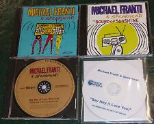 Michael Franti-Spearhead-PROMO LOT of 4 CD's promo cd...............LOOK