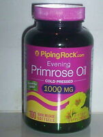 EVENING PRIMROSE OIL COLD PRESSED 1000 MG WOMEN'S PMS SUPPLEMENT 100 SOFTGELS