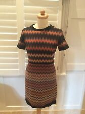 MISSONI WOOL classic pattern short dress with fault size IT42
