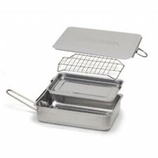 Stovetop Smoker Stainless Steel Indoor Outdoor W Wood Chips Mini Meat Fish Ribs