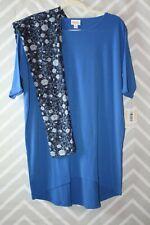 Lularoe Outfit Small Irma TC Leggings New Blue