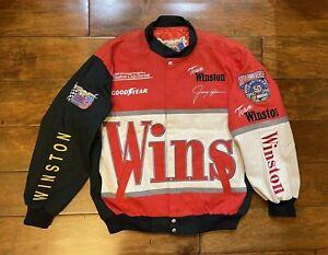 Jimmy Spencer #33 Winston No Bull Racing Jacket Mens Size Large NASCAR 50th Ann