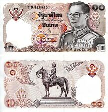 THAILAND 10 Baht Banknote World Paper Money UNC Currency p87 1980 King Rama IX