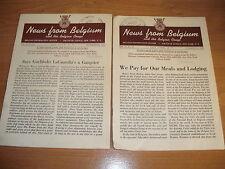 2 NEWS FROM BELGIUM & CONGO Magazines 1942 World War 2 WWII Photographs Rare