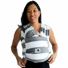 Baby K'tan ORIGINAL,BREEZE,ACTIVE Baby Carrier - Gray & White Stripes Size: XS-M