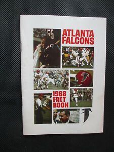 1968 Atlanta Falcons Official NFL Media Guide Fact Book. 82 pages. Nice!!