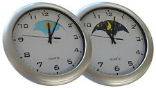 Day & Night Clock - with moving Sun and Moon Dial