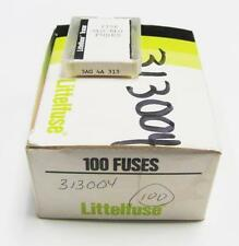 """(100) Littelfuse 4A 313004 3AG 250VAC 1/4"""" x 1-1/4"""" Fuses Slo-Blo Time Delay"""
