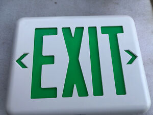 HUBBELL LIGHTING DUAL-LITE EVEUGWE Exit Sign Green w/ Battery Backup, EVE-Series