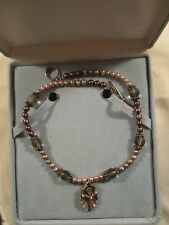 """Handcrafted, Sterling Silver, Pearl, Smokey Quartz 18"""" Necklace"""