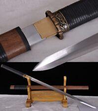 Handmade High Carbon Steel Blade Chinese Sword Full Tang Katana Bamboo Fittings