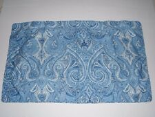 Ralph Lauren King Pillow Sham Blue White Abstract Paisley 100% Cotton Bedding