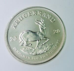 2020 South African Krugerrand 1 oz Silver Coin BU .999 Fine Silver bullion #241