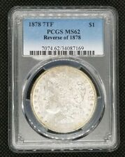 1878 (7 Tail Feathers, Reverse of 1878) Morgan Dollar | PCGS MS62 | White Coin!
