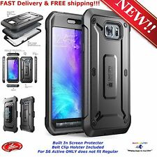 For Samsung Galaxy S6 Active Cover Dual Case Screen Protector Belt Clip Holster