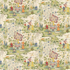 BRUNSCHWIG & FILS MIDDLE EASTERN PERSIAN TOILE COTTON FABRIC 10 YARDS CREAM MULT