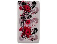 Hard Plastic Phone Case Cover Red Flowers on White For Motorola Droid RAZR MAXX