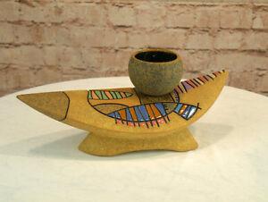 Moderne Vase Keramik eckige Form 14 cm hoch