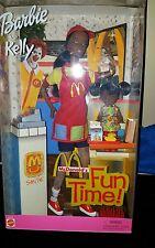 2001 McDonalds Fun Time Barbie and Kelly Set - NIB (African American)