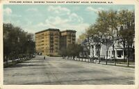 Highland Avenue Terrace Court Birmingham AL Alabama Chrome Lithograph Postcard