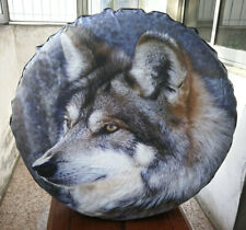 """Spare Tire Wheel Soft Cover With 3D Wolf For Jeep Toyota Ford 29"""" 30"""" 31"""""""