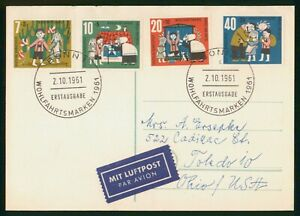 Mayfairstamps Germany 1961 Bonn to Toledo OH Fairy Tale Combo Card wwo_67937