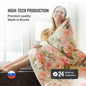 Electric Heated Blanket 150*180 cm, 2-Zone 3 Heating Modes Auto Shut-off Timer
