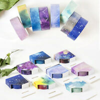 Decorative Starry Sky Roll Washi Tape Sticky Paper Masking Adhesive Craft + Box